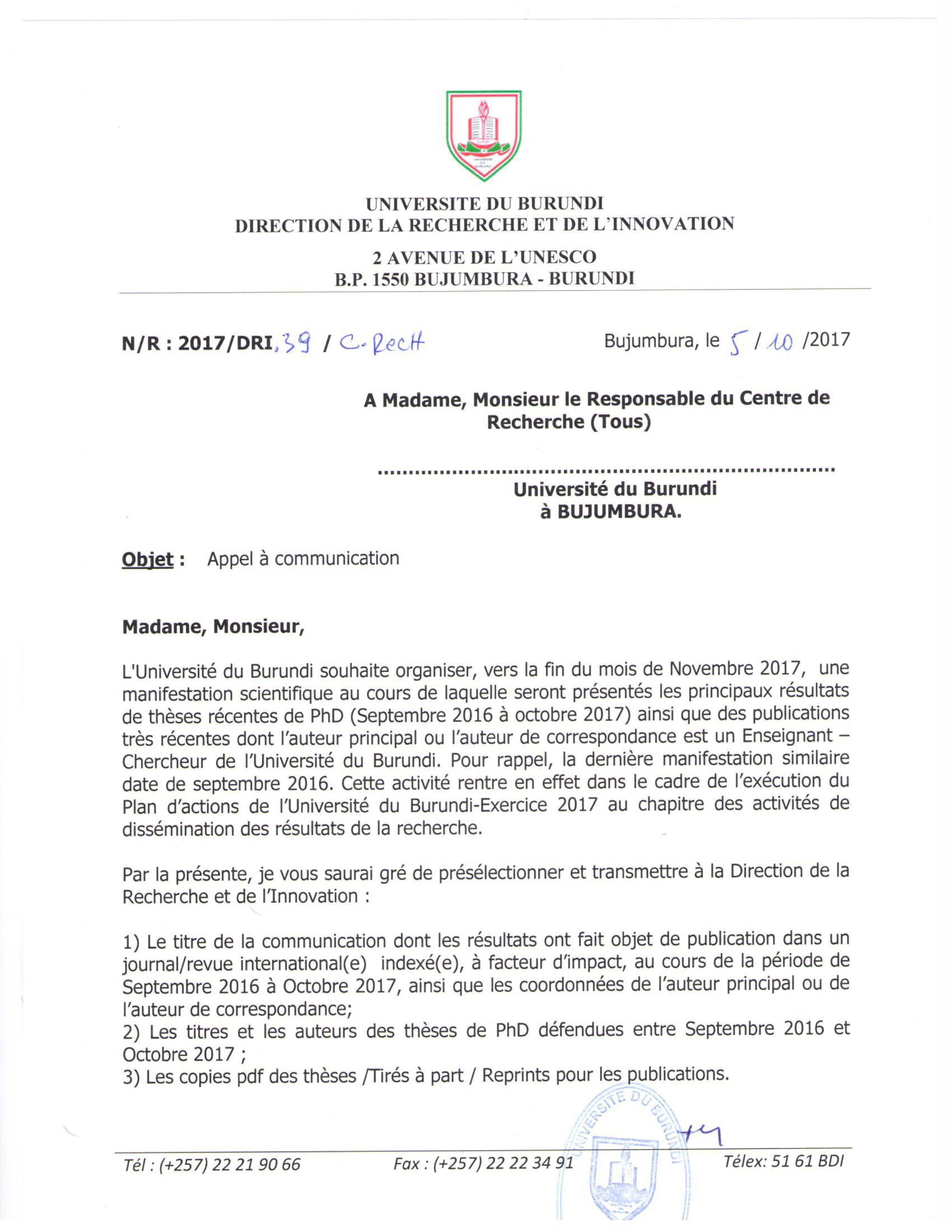Universite Du Burundi Le Grenier Du Savoir